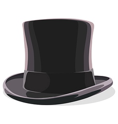 Black hat isolated vector