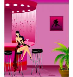 burlesque girl vector image