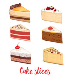 Cake slice isolated vector image vector image