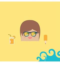 Cartoon doodle businessman rectangle relaxing vector