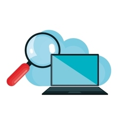 Cloud connection technology icons vector