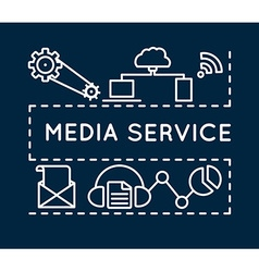 Concept of media service Linear style vector image vector image