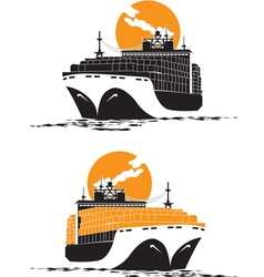 containership vector image vector image