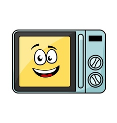 Cute cartoon microwave oven vector