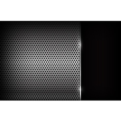 Dark chrome steel abstract background eps10 001 vector image vector image