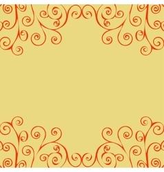 Decorative vintage pattern text background vector