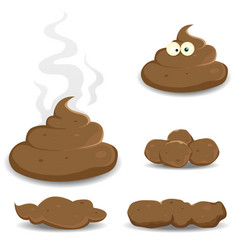 Dung pooh and other shit collection vector