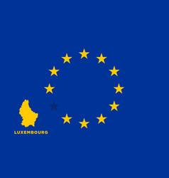 Eu flag with luxembourg country european union vector