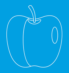 Glossy apple icon outline style vector