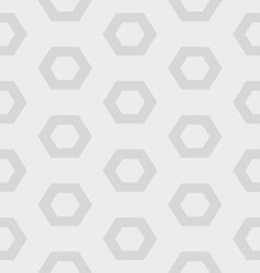 gray hexagon seamless pattern vector image