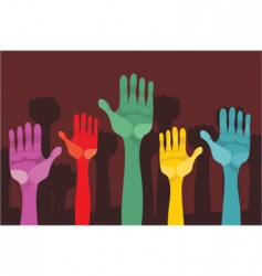 hand up vector image vector image
