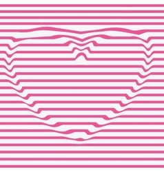 Heart line stencil dent the imagedesign vector