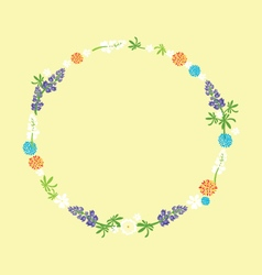 July wreath vector
