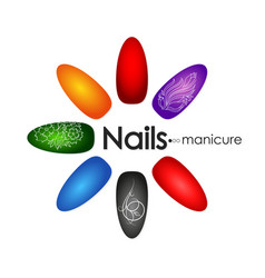 manicure and pedicure nail design vector image vector image