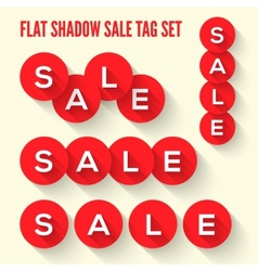 Modern flat sale tags set vector