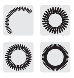 Monochrome icons set with springs vector