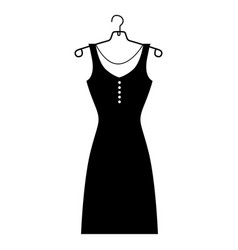 monochrome silhouette of the female dress in vector image vector image