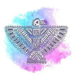 Native american eagle vector