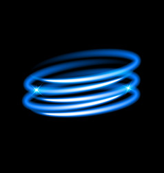 neon blue circles vector image