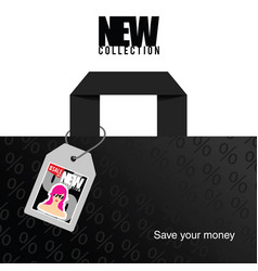 New collection with save money in colorful vector