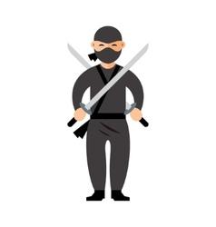 Ninja Flat style colorful Cartoon vector image vector image