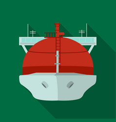 Oil tanker icon in flat style isolated on white vector