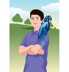 parrot landscape vector image vector image