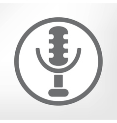 retro microphone icon vector image