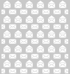seamless pattern with envelopes postal delivery vector image