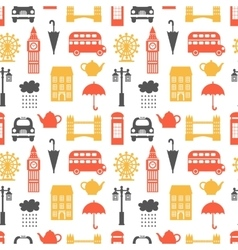 Seamless pattern with London symbols vector image vector image