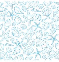 seashells seamless background vector image