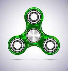 spinner green mosaic design with metal vector image vector image