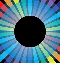 Symbol rainbow circle vector image