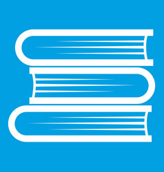 Three tutorial icon white vector