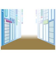 Town Street Scene vector image vector image
