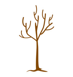 tree without leaves cartoon vector image