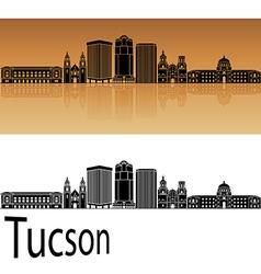 Tucson V2 skyline in orange vector image