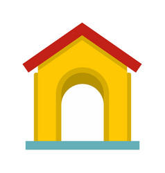 yellow toy house icon flat style vector image