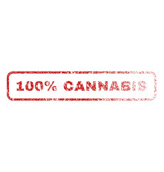100 percent cannabis rubber stamp vector