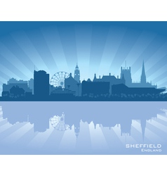 Sheffield england skyline vector