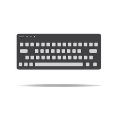 Keyboard icon in trendy flat style keyboard sign vector