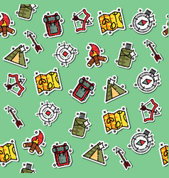 Hunting concept icons pattern vector