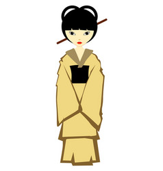 Japanese girl vector