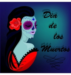 Girl Skeleton vector image