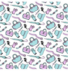 Doodle hand drawn fashion accessories and vector
