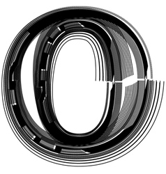 abstract font letter o vector image