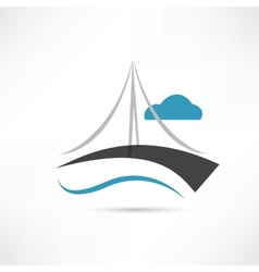 big bridge icon vector image