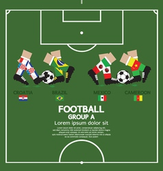 Group a football tournament vector