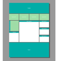 Website layout vector