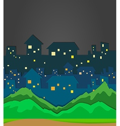 City scene at night time vector image